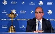 8 January 2019; European Ryder Cup Director Guy Kinnings during a press conference where Padraig Harrington was announced as European Ryder Cup Captain for the 2020 Ryder Cup matches which take place at Whistling Straits, USA, at the Wentworth Club in Surrey, England. Photo by Brendan Moran/Sportsfile