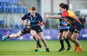 8 January 2019; David Murphy of Newpark Comprehensive School is tackled by Aidan O'Kane of St Fintan's High School during the Bank of Ireland Vinnie Murray Cup Round 1 match between Newpark Comprehensive and St Fintan's High School at Energia Park in Dublin. Photo by David Fitzgerald/Sportsfile