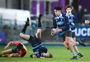 8 January 2019; Leon Gallagher of Newpark Comprehensive School makes a break during the Bank of Ireland Vinnie Murray Cup Round 1 match between Newpark Comprehensive and St Fintan's High School at Energia Park in Dublin. Photo by David Fitzgerald/Sportsfile