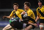8 January 2019; Matthew Mahood of The King's Hospital is tackled by Brian O'Leary of Gorey Community School during the Bank of Ireland Vinnie Murray Cup Round 1 match between The King's Hospital and Gorey Community School at Energia Park in Dublin. Photo by David Fitzgerald/Sportsfile