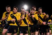 8 January 2019; King's Hospital players celebrate following the Bank of Ireland Vinnie Murray Cup Round 1 match between The King's Hospital and Gorey Community School at Energia Park in Dublin. Photo by David Fitzgerald/Sportsfile