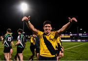 8 January 2019; Matias Giannetti of The King's Hospital celebrates following the Bank of Ireland Vinnie Murray Cup Round 1 match between The King's Hospital and Gorey Community School at Energia Park in Dublin. Photo by David Fitzgerald/Sportsfile