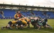 8 January 2019; A view of a scrum during the Bank of Ireland Vinnie Murray Cup Round 1 match between The King's Hospital and Gorey Community School at Energia Park in Dublin. Photo by David Fitzgerald/Sportsfile