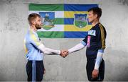 9 January 2019; Seamus Flanagan of UCD and Limerick, left, and Brian Hogan of UCD and Tipperary in attendance at the launch of Electric Ireland's Sigerson, Fitzgibbon and Higher Education Championships announcement at Clanna Gael GAA Club in Dublin. Electric Ireland will live stream a selection of Fitzgibbon and Sigerson Cup games, bringing fans closer to the action than ever before. As part of the First Class Rivals campaign, rival county footballers but now college teammates, Sean O'Shea (Kerry and UCC) and Cian Kiely (Cork and UCC),  Michael McKernan (Tyrone and UU) and Eoghan Bán Gallagher (Donegal and UU) and hurlers, Brian Hogan (Tipperary and UCD) and Seamus Flanagan (Limerick and UCD) will each will put aside their traditional county rivalries, pulling on matching college jerseys to compete as teammates for glory in the Electric Ireland GAA Higher Education Fitzgibbon and Sigerson Cup. Photo by David Fitzgerald/Sportsfile