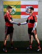 9 January 2019; Sean O'Shea of UCC and Kerry, left, and Cian Kiely of UCC and Cork in attendance at the launch of Electric Ireland's Sigerson, Fitzgibbon and Higher Education Championships announcement at Clanna Gael GAA Club in Dublin. Electric Ireland will live stream a selection of Fitzgibbon and Sigerson Cup games, bringing fans closer to the action than ever before. As part of the First Class Rivals campaign, rival county footballers but now college teammates, Sean O'Shea (Kerry and UCC) and Cian Kiely (Cork and UCC),  Michael McKernan (Tyrone and UU) and Eoghan Bán Gallagher (Donegal and UU) and hurlers, Brian Hogan (Tipperary and UCD) and Seamus Flanagan (Limerick and UCD) will each will put aside their traditional county rivalries, pulling on matching college jerseys to compete as teammates for glory in the Electric Ireland GAA Higher Education Fitzgibbon and Sigerson Cup. Photo by David Fitzgerald/Sportsfile