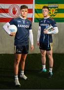 9 January 2019; Michael McKernan of University of Ulster and Tyrone, left, and Eoghan Bán Gallagher of University of Ulster and Donegal in attendance at the launch of Electric Ireland's Sigerson, Fitzgibbon and Higher Education Championships announcement at Clanna Gael GAA Club in Dublin. Electric Ireland will live stream a selection of Fitzgibbon and Sigerson Cup games, bringing fans closer to the action than ever before. As part of the First Class Rivals campaign, rival county footballers but now college teammates, Sean O'Shea (Kerry and UCC) and Cian Kiely (Cork and UCC),  Michael McKernan (Tyrone and UU) and Eoghan Bán Gallagher (Donegal and UU) and hurlers, Brian Hogan (Tipperary and UCD) and Seamus Flanagan (Limerick and UCD) will each will put aside their traditional county rivalries, pulling on matching college jerseys to compete as teammates for glory in the Electric Ireland GAA Higher Education Fitzgibbon and Sigerson Cup. Photo by David Fitzgerald/Sportsfile