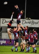 9 January 2019; Murty O'Neill of Salesian College wins possession of the lineout against The High School during the Bank of Ireland Vinnie Murray Cup Round 1 match between The High School and Salesian College at Energia Park in Dublin. Photo by Matt Browne/Sportsfile