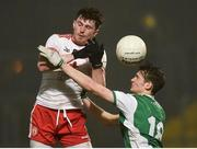 9 January 2019; Rory Brennan of Tyrone in action against Conor McHugh of Fermanagh during the Bank of Ireland Dr McKenna Cup Round 3 match between Tyrone and Fermanagh at Healy Park in Omagh, Tyrone. Photo by Oliver McVeigh/Sportsfile