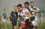 9 January 2019; David. Mulgrew of Tyrone in action against Kane Connor of Fermanagh during the Bank of Ireland Dr McKenna Cup Round 3 match between Tyrone and Fermanagh at Healy Park in Omagh, Tyrone. Photo by Oliver McVeigh/Sportsfile