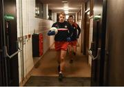 9 January 2019; Peter Harte of Tyrone leads the team out before the Bank of Ireland Dr McKenna Cup Round 3 match between Tyrone and Fermanagh at Healy Park in Omagh, Tyrone. Photo by Oliver McVeigh/Sportsfile