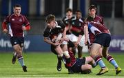9 January 2019; Robert Whyte of The High School is tackled by Conor Bowden of Salesian College during the Bank of Ireland Vinnie Murray Cup Round 1 match between The High School and Salesian College at Energia Park in Dublin. Photo by Matt Browne/Sportsfile