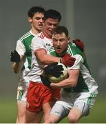9 January 2019; Aidan Breen, right, and Conor McHugh of Fermanagh in action against Ryan Gray of Tyrone during the Bank of Ireland Dr McKenna Cup Round 3 match between Tyrone and Fermanagh at Healy Park in Omagh, Tyrone. Photo by Oliver McVeigh/Sportsfile