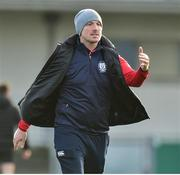 9 January 2019; Catholic University School head coach Eric Miller at the Bank of Ireland Vinnie Murray Cup Round 1 match between Catholic University School and Gormanstown College at Energia Park in Dublin. Photo by Matt Browne/Sportsfile