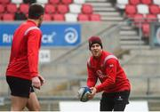 11 January 2019; Will Addison during the Ulster Rugby Captain's Run at the Kingspan Stadium in Belfast, Co Antrim. Photo by Eoin Smith/Sportsfile