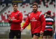 11 January 2019; Wiehahn Herbst, right, and Louis Ludik during the Ulster Rugby Captain's Run at the Kingspan Stadium in Belfast, Co Antrim. Photo by Eoin Smith/Sportsfile