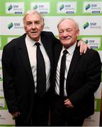 11 January 2019; Former Republic of Ireland international Paddy Mulligan, left, and Sean Creedon in attendance during the SSE Airtricity Soccer Writers' Association of Ireland Awards 2018 at the Conrad Hotel in Dublin. Photo by Stephen McCarthy/Sportsfile
