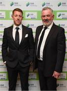 11 January 2019; Former Bohemians goalkeeper Shane Supple, left, and Dave Henderson in attendance during the SSE Airtricity Soccer Writers' Association of Ireland Awards 2018 at the Conrad Hotel in Dublin. Photo by Stephen McCarthy/Sportsfile
