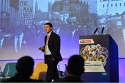 11 January 2019; Dr Paul Donnelly, Regeneration Director, Antrim GAA, speaking during The GAA Games Development Conference, in partnership with Sky Sports, which took place in Croke Park on Friday and Saturday. A record attendance of over 800 delegates were present to see over 30 speakers from the world of Gaelic games, sport and education. Croke Park, Dublin. Photo by Piaras Ó Mídheach/Sportsfile