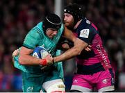 11 January 2019; CJ Stander of Munster is tackled by Ben Morgan of Gloucester during the Heineken Champions Cup Pool 2 Round 5 match between Gloucester and Munster at Kingsholm Stadium in Gloucester, England. Photo by Seb Daly/Sportsfile
