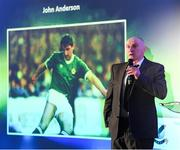 11 January 2019; Former Republic of Ireland international John Anderson during the SSE Airtricity Soccer Writers' Association of Ireland Awards 2018 at the Conrad Hotel in Dublin. Photo by Stephen McCarthy/Sportsfile