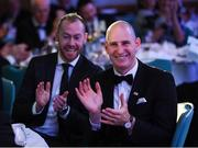 11 January 2019; Dundalk's Gary Rogers, right, and Chris Shields during the SSE Airtricity Soccer Writers' Association of Ireland Awards 2018 at the Conrad Hotel in Dublin. Photo by Stephen McCarthy/Sportsfile