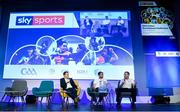 12 January 2019; Sky Sports analysts Jamesie O'Connor, right, and JJ Delaney with Damian Lawlor, Author & Broadcaster, speaking at The GAA Games Development Conference, in partnership with Sky Sports, which took place in Croke Park on Friday and Saturday. A record attendance of over 800 delegates were present to see over 30 speakers from the world of Gaelic games, sport and education. Croke Park, Dublin. Photo by Piaras Ó Mídheach/Sportsfile