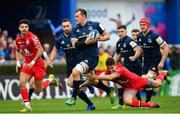 12 January 2019; Rhys Ruddock of Leinster is tackled by Antoine Dupont of Toulouse during the Heineken Champions Cup Pool 1 Round 5 match between Leinster and Toulouse at the RDS Arena in Dublin. Photo by Ramsey Cardy/Sportsfile