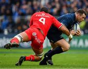 12 January 2019; Cian Healy of Leinster is tackled by Richie Arnold of Toulouse during the Heineken Champions Cup Pool 1 Round 5 match between Leinster and Toulouse at the RDS Arena in Dublin. Photo by Seb Daly/Sportsfile