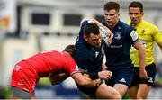 12 January 2019; Cian Healy of Leinster is tackled by Antoine Dupont of Toulouse during the Heineken Champions Cup Pool 1 Round 5 match between Leinster and Toulouse at the RDS Arena in Dublin. Photo by Ramsey Cardy/Sportsfile