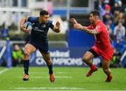 12 January 2019; Adam Byrne of Leinster in action against Sofiane Guitoune of Toulouse during the Heineken Champions Cup Pool 1 Round 5 match between Leinster and Toulouse at the RDS Arena in Dublin. Photo by Seb Daly/Sportsfile