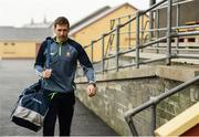 12 January 2019; Clare captain Gary Brennan arrives prior to the McGrath Cup Final match between Cork and Clare at Hennessy Park in Miltown Malbay, Co. Clare. Photo by Diarmuid Greene/Sportsfile