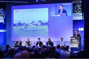 12 January 2019; Pat Daly, GAA Director of Games Development and Research, speaking at The GAA Games Development Conference, in partnership with Sky Sports, which took place in Croke Park on Friday and Saturday. A record attendance of over 800 delegates were present to see over 30 speakers from the world of Gaelic games, sport and education. Croke Park, Dublin. Photo by Piaras Ó Mídheach/Sportsfile