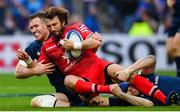 12 January 2019; Maxime Médard of Toulouse is tackled by Rory O'Loughlin of Leinster during the Heineken Champions Cup Pool 1 Round 5 match between Leinster and Toulouse at the RDS Arena in Dublin. Photo by Ramsey Cardy/Sportsfile