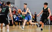 12 January 2019; Jack Maguire of Dublin Lions in action against Rian O'Connell of Portlaoise Panthers during the Hula Hoops Under 20 Men's National Cup semi-final match between Portlaoise Panthers and Dublin Lions at the Mardyke Arena UCC in Cork.  Photo by Brendan Moran/Sportsfile
