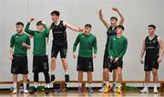 12 January 2019; Dejected Portlaoise Panthers react during the final moments of the Hula Hoops Under 20 Men's National Cup semi-final match between Portlaoise Panthers and Dublin Lions at the Mardyke Arena UCC in Cork.  Photo by Brendan Moran/Sportsfile