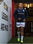 12 January 2019; Simon Zebo of Racing 92 prior to the Heineken Champions Cup Pool 4 Round 5 match between Ulster and Racing 92 at the Kingspan Stadium in Belfast, Co. Antrim. Photo by David Fitzgerald/Sportsfile
