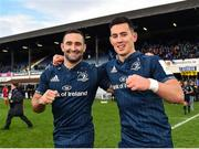 12 January 2019; Dave Kearney, left, and Noel Reid of Leinster following their side's victory during the Heineken Champions Cup Pool 1 Round 5 match between Leinster and Toulouse at the RDS Arena in Dublin. Photo by Seb Daly/Sportsfile