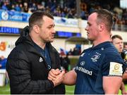 12 January 2019; Cian Healy, left, and Ed Byrne of Leinster following the Heineken Champions Cup Pool 1 Round 5 match between Leinster and Toulouse at the RDS Arena in Dublin. Photo by Seb Daly/Sportsfile