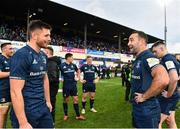12 January 2019; Ross Byrne, left, and Dave Kearney of Leinster following the Heineken Champions Cup Pool 1 Round 5 match between Leinster and Toulouse at the RDS Arena in Dublin. Photo by Seb Daly/Sportsfile