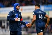 12 January 2019; Robbie Henshaw of Leinster congratulates Adam Byrne, right, after scoring a try during the Heineken Champions Cup Pool 1 Round 5 match between Leinster and Toulouse at the RDS Arena in Dublin. Photo by Ramsey Cardy/Sportsfile