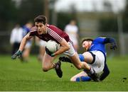 12 January 2019; Sam Duncan of Westmeath in action against Michael Quinn of Longford during the Bord na Mona O'Byrne Cup semi-final match between Westmeath and Longford at Downs GAA Club in Westmeath. Photo by Sam Barnes/Sportsfile