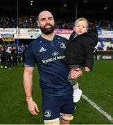 12 January 2019; Scott Fardy of Leinster with his child August following the Heineken Champions Cup Pool 1 Round 5 match between Leinster and Toulouse at the RDS Arena in Dublin. Photo by Ramsey Cardy/Sportsfile