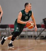 12 January 2019; Mazvydas Cepliauskas of BC Leixlip Zalgiris during the Hula Hoops NICC Men's National Cup semi-final match between Drogheda Bullets and BC Leixlip Zalgiris 1 at the Mardyke Arena UCC in Cork.  Photo by Brendan Moran/Sportsfile