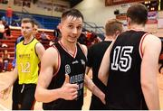 12 January 2019; Alex Dolenko of Bad Bobs Tolka Rovers following the Hula Hoops Presidents National Cup Semi-Final match between IT Carlow Basketball and Bad Bobs Tolka Rovers at Neptune Stadium in Cork.  Photo by Eóin Noonan/Sportsfile