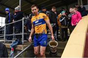 12 January 2019; Clare captain Gary Brennan makes his way into the dressing room with the cup after the McGrath Cup Final match between Cork and Clare at Hennessy Park in Miltown Malbay, Co. Clare. Photo by Diarmuid Greene/Sportsfile