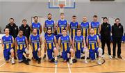 12 January 2019; The UCD Marian team prior to the Hula Hoops Men's Pat Duffy National Cup semi-final match between UCD Marian and Belfast Star at the Mardyke Arena UCC in Cork. Photo by Brendan Moran/Sportsfile