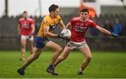 12 January 2019; Gary Brennan of Clare in action against Mark Collins of Cork during the McGrath Cup Final match between Cork and Clare at Hennessy Park in Miltown Malbay, Co. Clare. Photo by Diarmuid Greene/Sportsfile