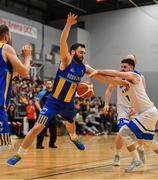 12 January 2019; Conor Meany of UCD Marian in action against Matthew Jackson of Belfast Star during the Hula Hoops Men's Pat Duffy National Cup semi-final match between UCD Marian and Belfast Star at the Mardyke Arena UCC in Cork.  Photo by Brendan Moran/Sportsfile