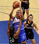 12 January 2019; Claire Rockall of Marnee in action against Jodie Black of Swords Thunder during the Hula Hoops Women's Division One National Cup Semi-Final match between Maree and Swords Thunder at Neptune Stadium in Cork.  Photo by Eóin Noonan/Sportsfile