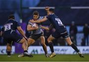 12 January 2019; Kyle Godwin of Connacht is tackled by Luke James, right, and WillGriff John of Sale Sharksduring the Heineken Challenge Cup Pool 3 Round 5 match between Connacht and Sale Sharks at the Sportsground in Galway. Photo by Harry Murphy/Sportsfile